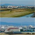 名古屋高速から見た瀬戸デジタルタワーと、金城学院大学関連しているアニー・ランドルフ記念講堂 - 4