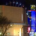 写真: 大津通から見た、ビル越しの夜のサンシャインサカエ観覧車とドンキホーテのイルミネーション - 5