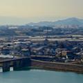 犬山城から見た金華山と岐阜駅方面