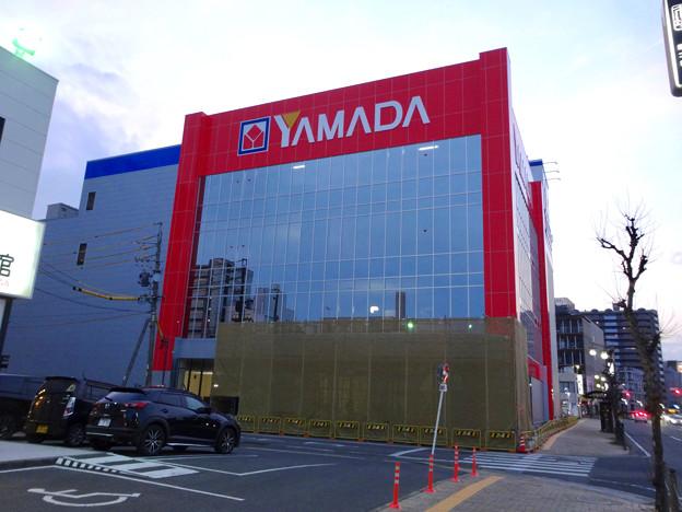 建物の外観がほとんど完成してた、ヤマダ電機テックランド春日井店(2017年3月25日) - 1