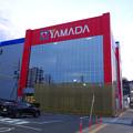 写真: 建物の外観がほとんど完成してた、ヤマダ電機テックランド春日井店(2017年3月25日) - 1