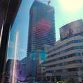 写真: バスの車内から見た、様変わりした御園座の建物 - 1