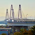 金城ふ頭駐車場から見た名港トリトン「名港西大橋」 - 1