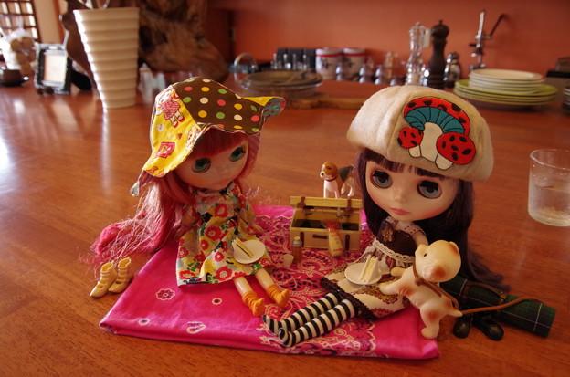 喫茶店でピクニック