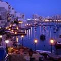 写真: マルタ島の夜景