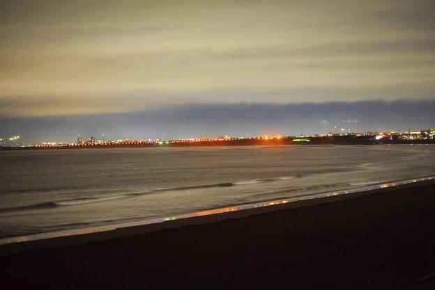夜の湘南・鵠沼海岸 #湘南 #藤沢 #海 #波 #beach #wave #夜景 #nightview
