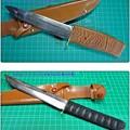 写真: カスタムナイフの製作