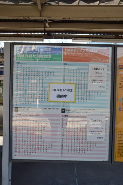 9・10番線時刻表 [常磐線 上野駅]