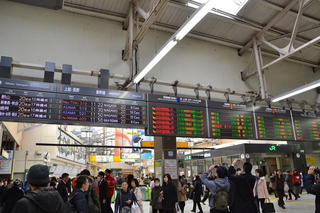 中央改札の発車標 [JR上野駅]