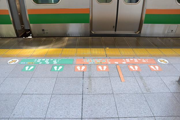 東北本線系の文字 (7-8番線ホーム) [東海道線 東京駅]