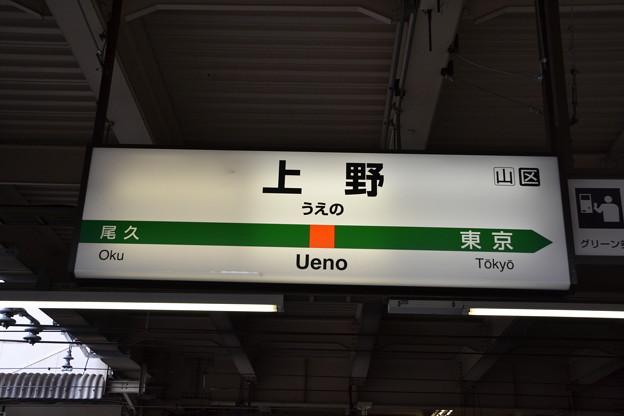 7番線駅名標 [上野東京ライン 上野駅]