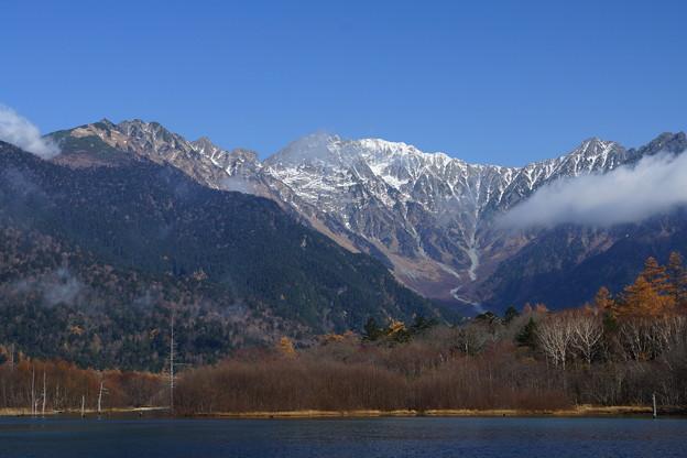 大正池からの穂高岳