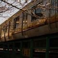 写真: 船島鉄橋を渡る南武線