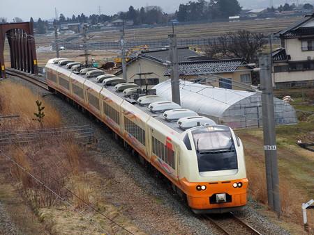 E653系特急いなほ 羽越本線藤島~西袋02
