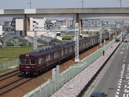 阪急3300系普通 阪急京都線茨木市~南茨木