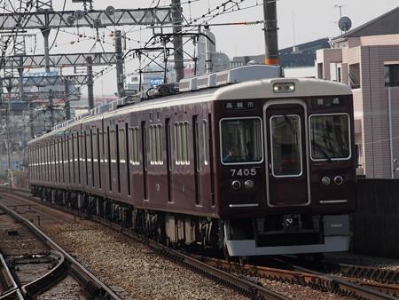 阪急7300系普通 阪急京都線茨木市駅