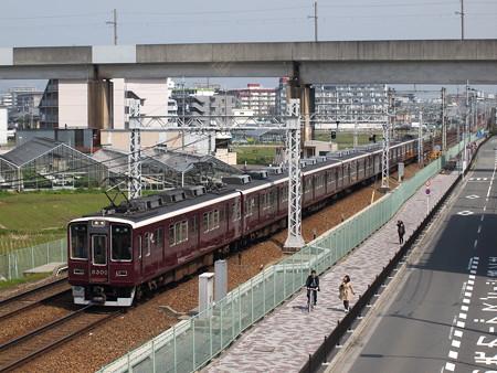 阪急8300系普通 阪急京都線茨木市~南茨木