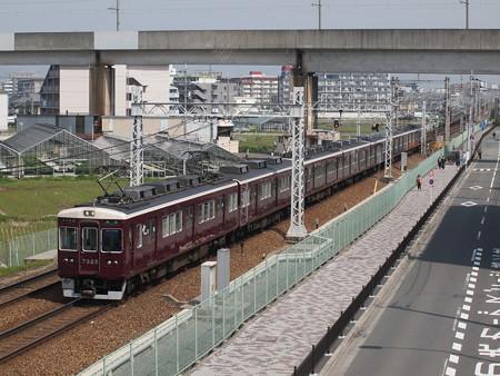 阪急7300系準急 阪急京都線茨木市~南茨木