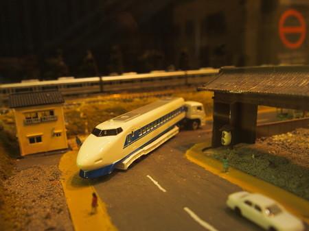 100系の陸送の模型 梅小路蒸気機関車館
