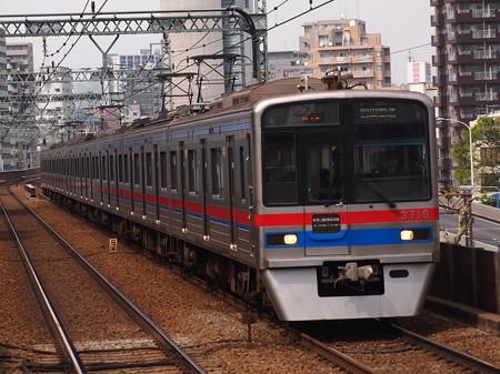 京成3700形エアポート快特 京急本線青物横丁駅