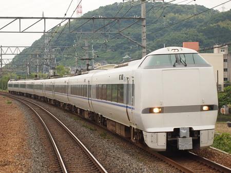 683系特急サンダーバード 東海道本線島本駅