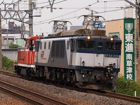 EF64 DE10回送 東海道本線南草津駅