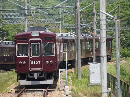 能勢電5100系 妙見線山下駅01