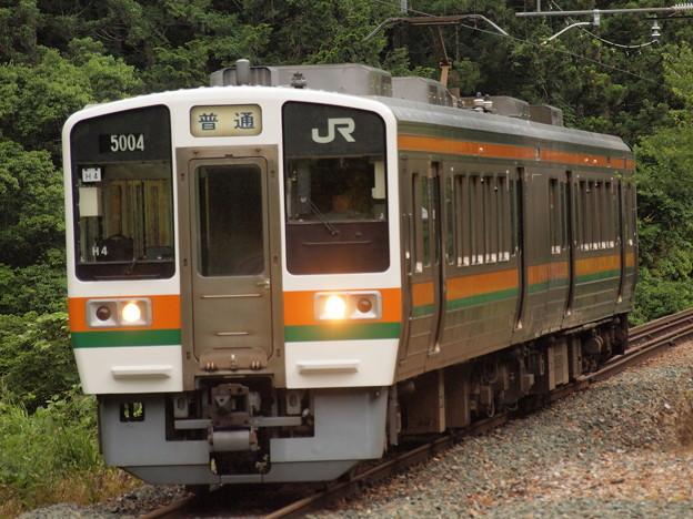 213系普通 飯田線城西駅