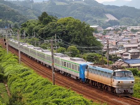EF66 メトロ16000系甲種東海道本線金谷~島田05
