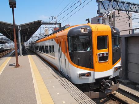 近鉄124000系回送 近鉄名古屋線八田駅04
