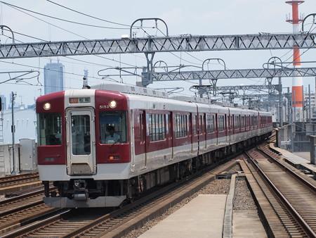 近鉄5200系急行  近鉄名古屋線八田駅01