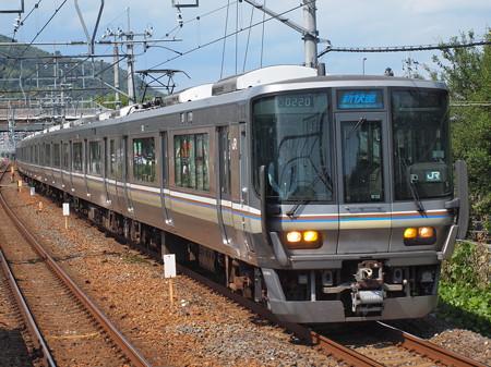 223系新快速 東海道本線島本駅01