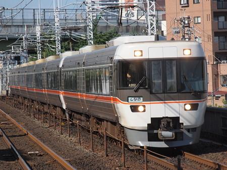 383系特急しなの 中央本線鶴舞駅