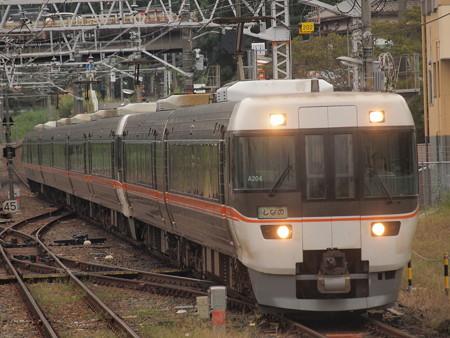 383系ワイドビューしなの  中央本線中津川駅01