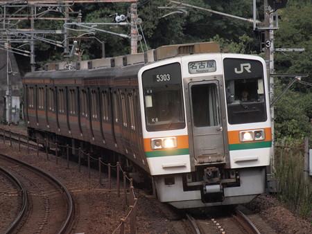 211系普通 中央本線古虎渓駅