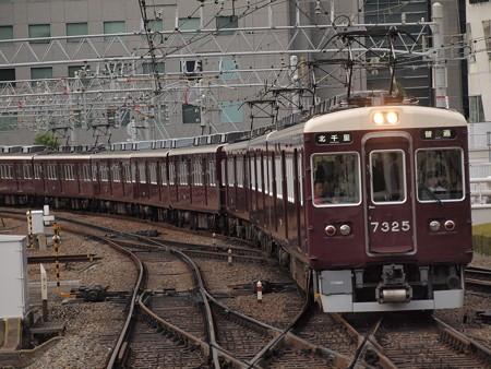 阪急7300系普通  阪急京都線梅田駅01