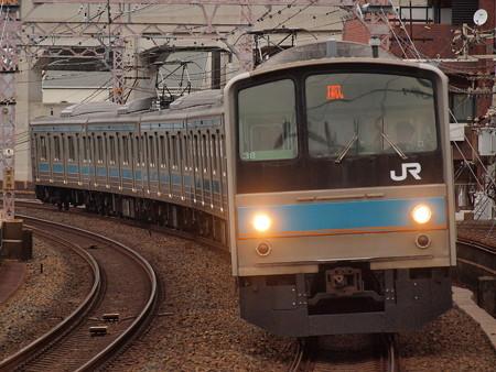 205系普通  阪和線美章園駅02