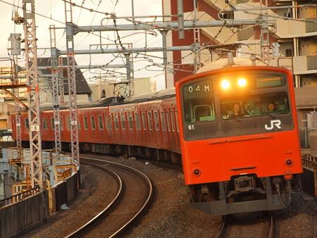 201系普通  大阪環状線寺田町駅01