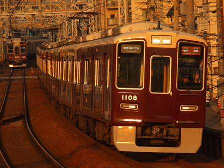 阪急1000系特急 阪急神戸線王子公園駅