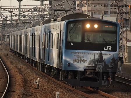201系普通   大阪環状線野田駅01