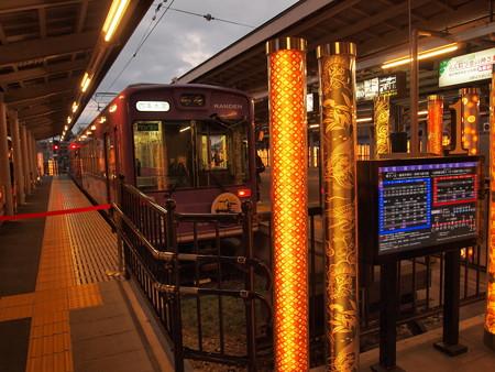 嵐電モボ611形  嵐電本線嵐山駅01