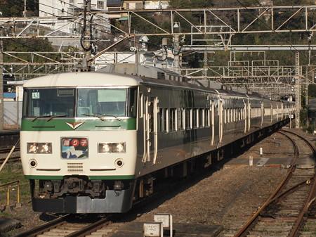 185系特急踊り子 東海道本線熱海駅01