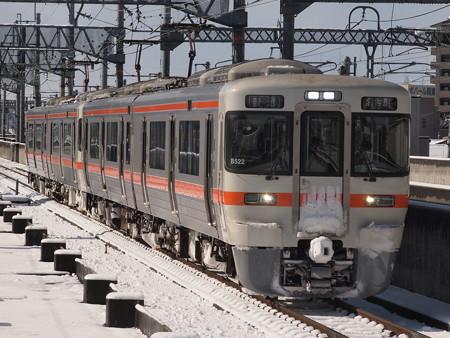 313系普通  関西本線八田駅04