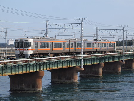 313系普通 東海道本線弁天島~新居町