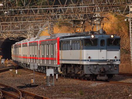 EF65 東武70000系甲種 東海道本線熱海駅01