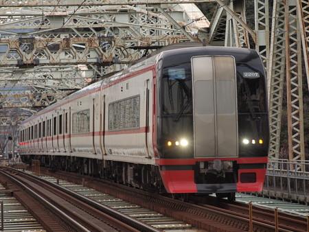 名鉄2200系特急 名鉄犬山線新鵜沼~犬山遊園
