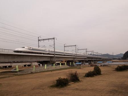 N700系のぞみ 山陽新幹線西明石~姫路
