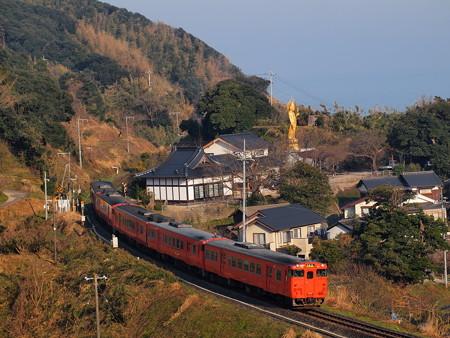 キハ47普通  山陰本線泊~青谷01