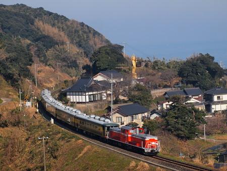 DD51 サロンカーなにわ  山陰本線泊~青谷04