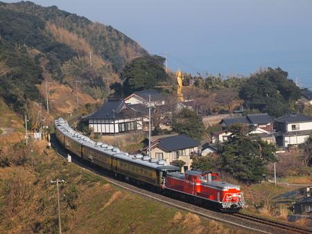 DD51 サロンカーなにわ  山陰本線泊~青谷05